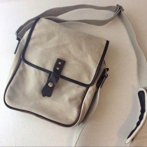 Banana Republic Canvas Leather Trim Crossbody Bag